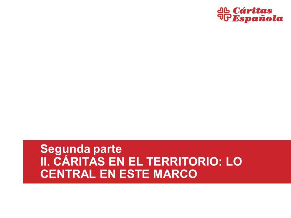 Segunda parte II. CÁRITAS EN EL TERRITORIO: LO CENTRAL EN ESTE MARCO