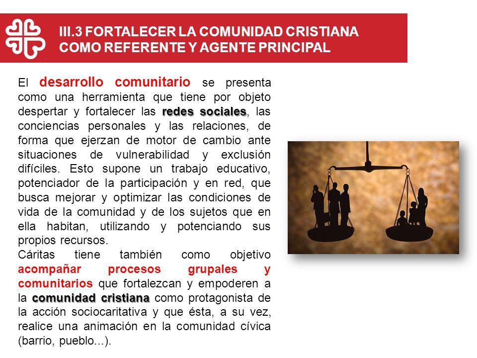 III.3 FORTALECER LA COMUNIDAD CRISTIANA