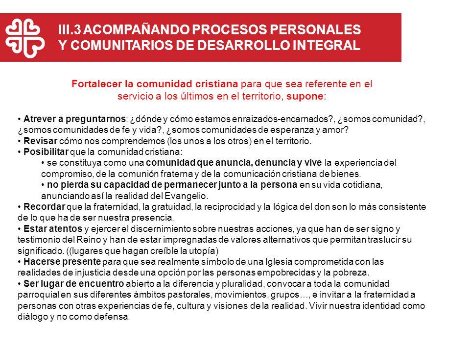 III.3 ACOMPAÑANDO PROCESOS PERSONALES