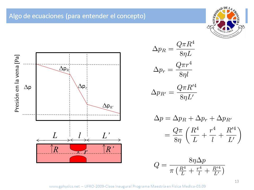 L l L' R R' r Algo de ecuaciones (para entender el concepto) pR