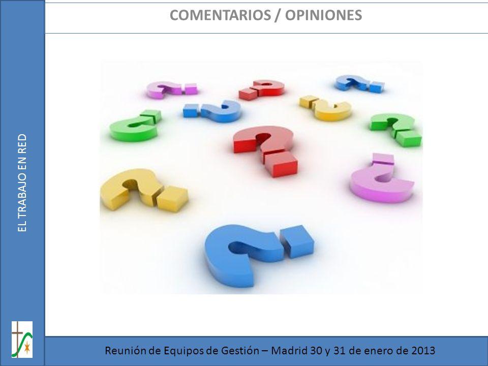 COMENTARIOS / OPINIONES
