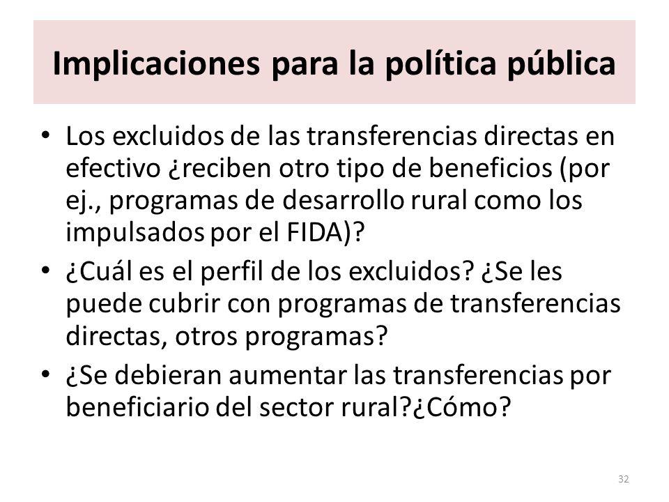 Implicaciones para la política pública