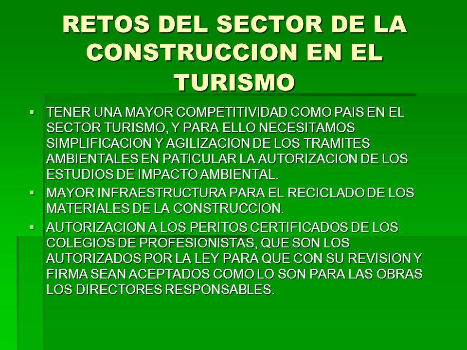 RETOS DEL SECTOR DE LA CONSTRUCCION EN EL TURISMO