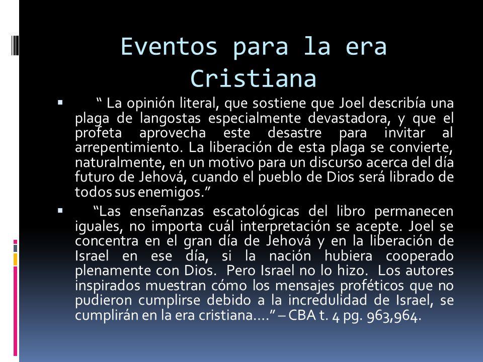 Eventos para la era Cristiana