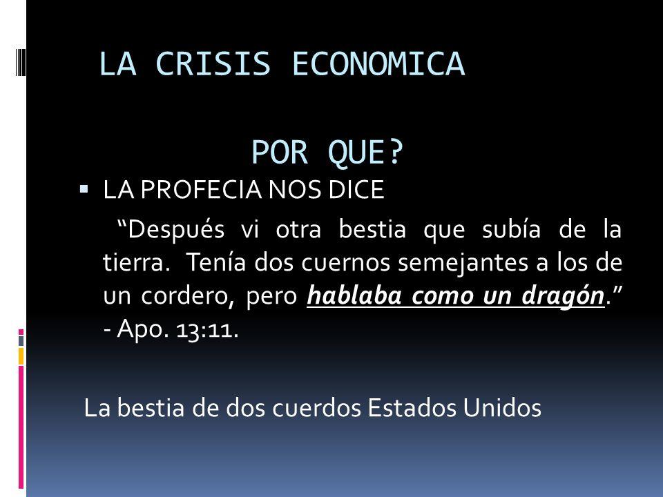LA CRISIS ECONOMICA POR QUE