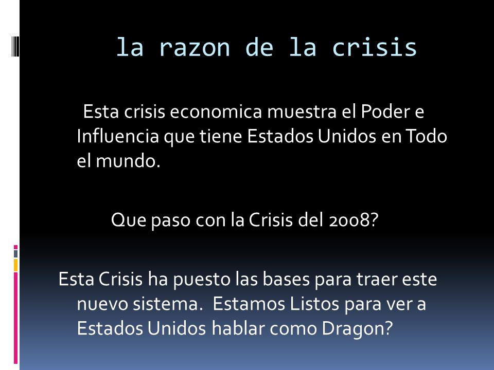 la razon de la crisis