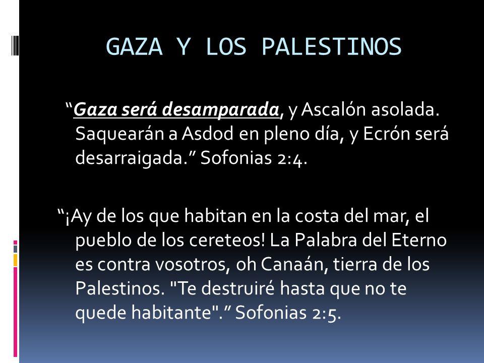 GAZA Y LOS PALESTINOS