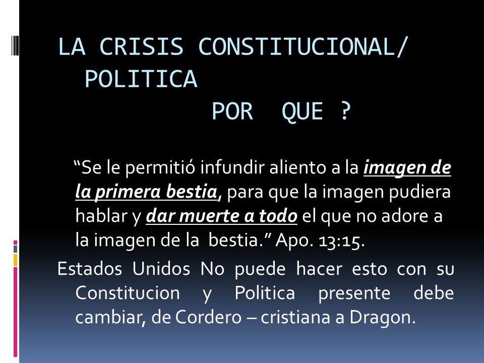 LA CRISIS CONSTITUCIONAL/ POLITICA POR QUE