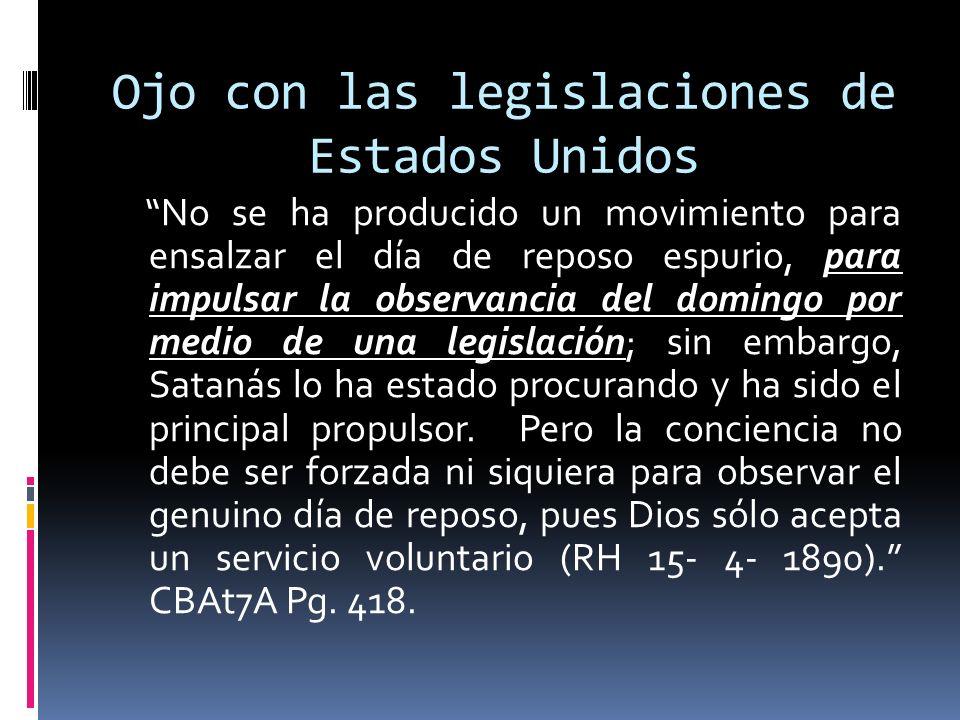 Ojo con las legislaciones de Estados Unidos
