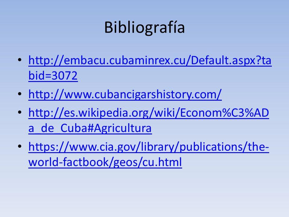 Bibliografía http://embacu.cubaminrex.cu/Default.aspx tabid=3072