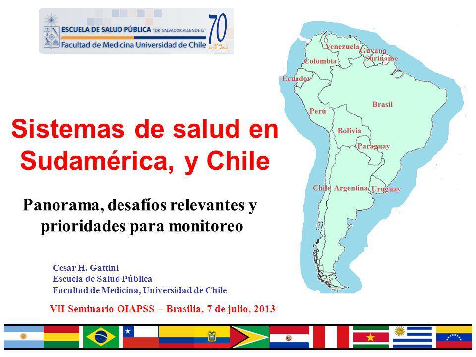 Sistemas de salud en Sudamérica, y Chile