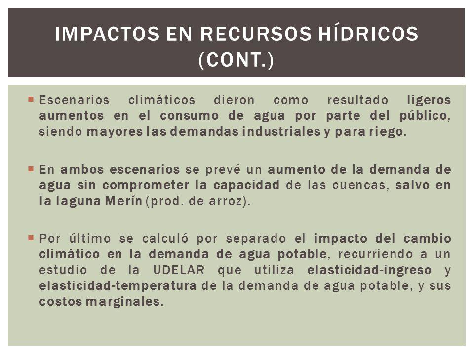 Impactos en recursos hídricos (cont.)