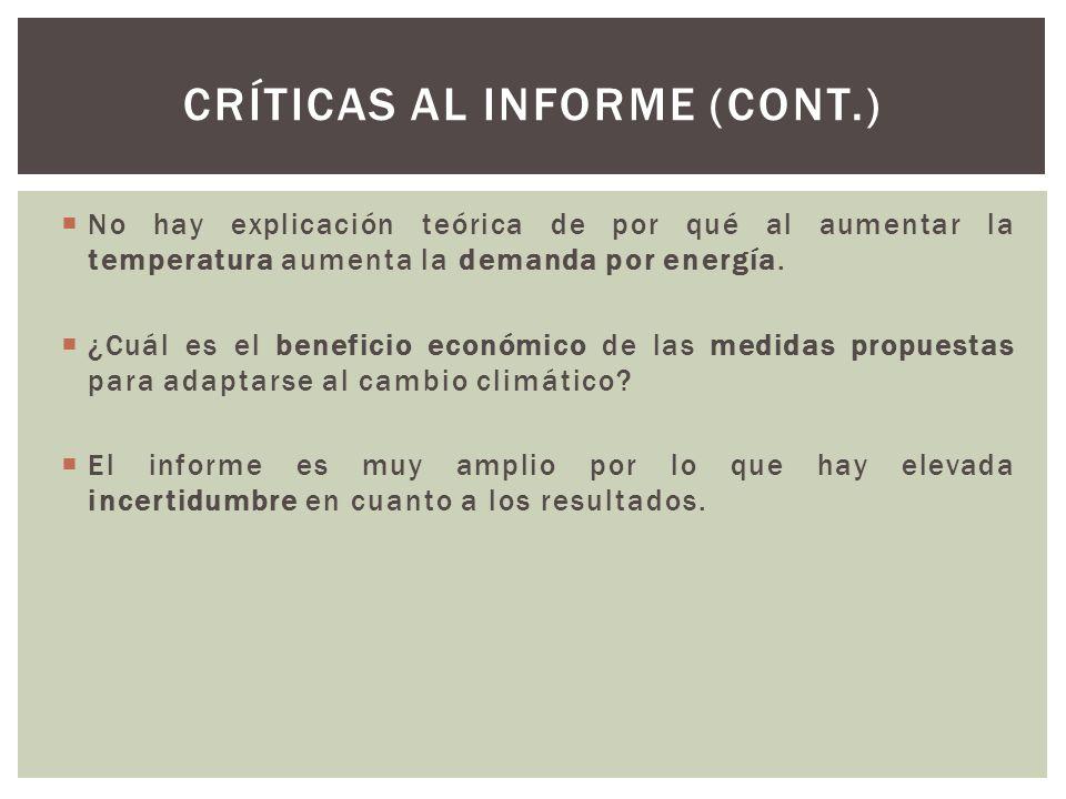 CRÍTICAS AL INFORME (cont.)