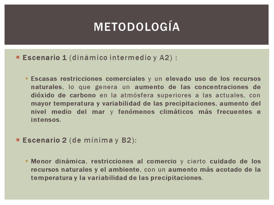 Metodología Escenario 1 (dinámico intermedio y A2) :