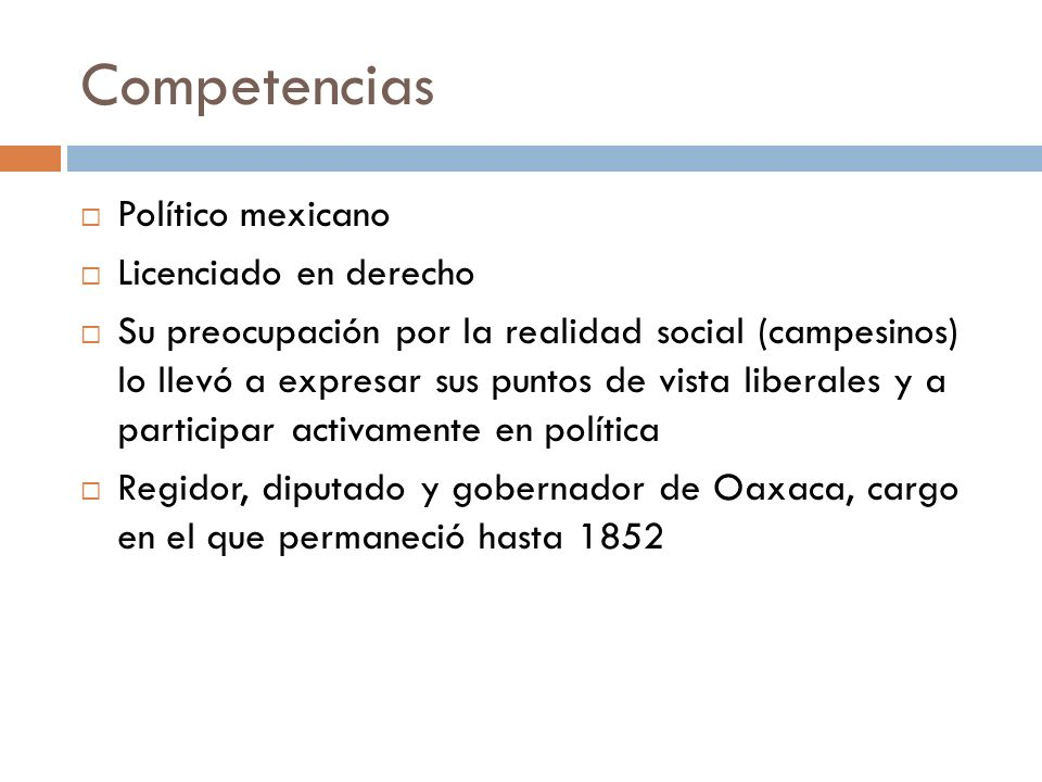 Competencias Político mexicano Licenciado en derecho