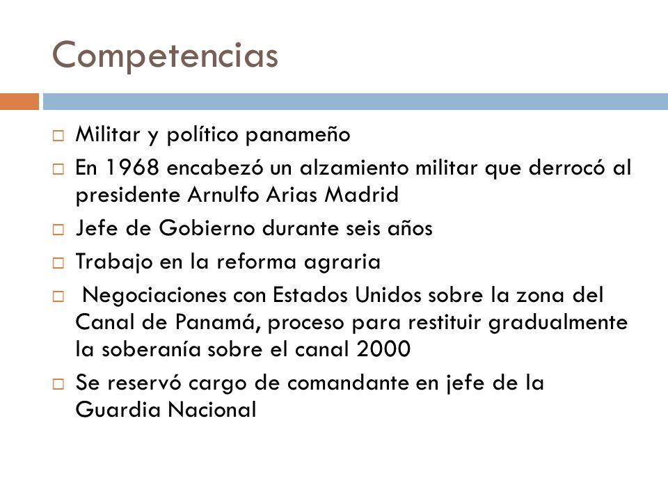 Competencias Militar y político panameño