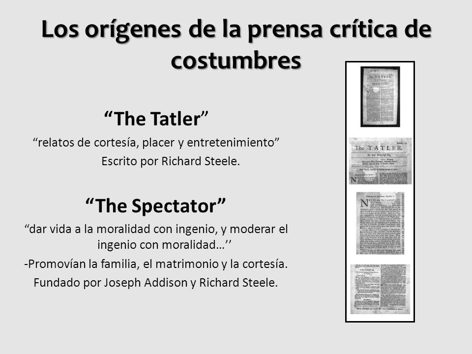 Los orígenes de la prensa crítica de costumbres