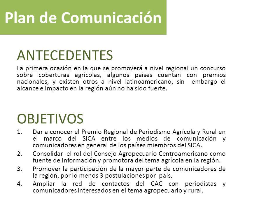 Plan de Comunicación ANTECEDENTES OBJETIVOS
