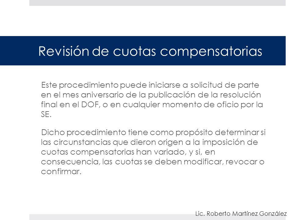 Revisión de cuotas compensatorias