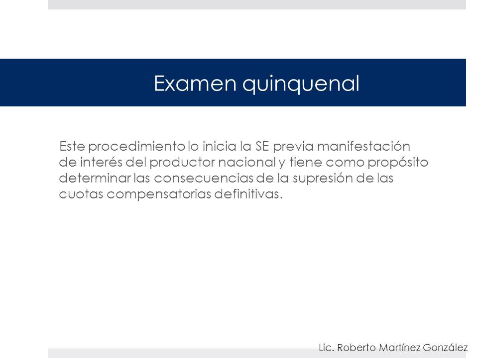 Examen quinquenal