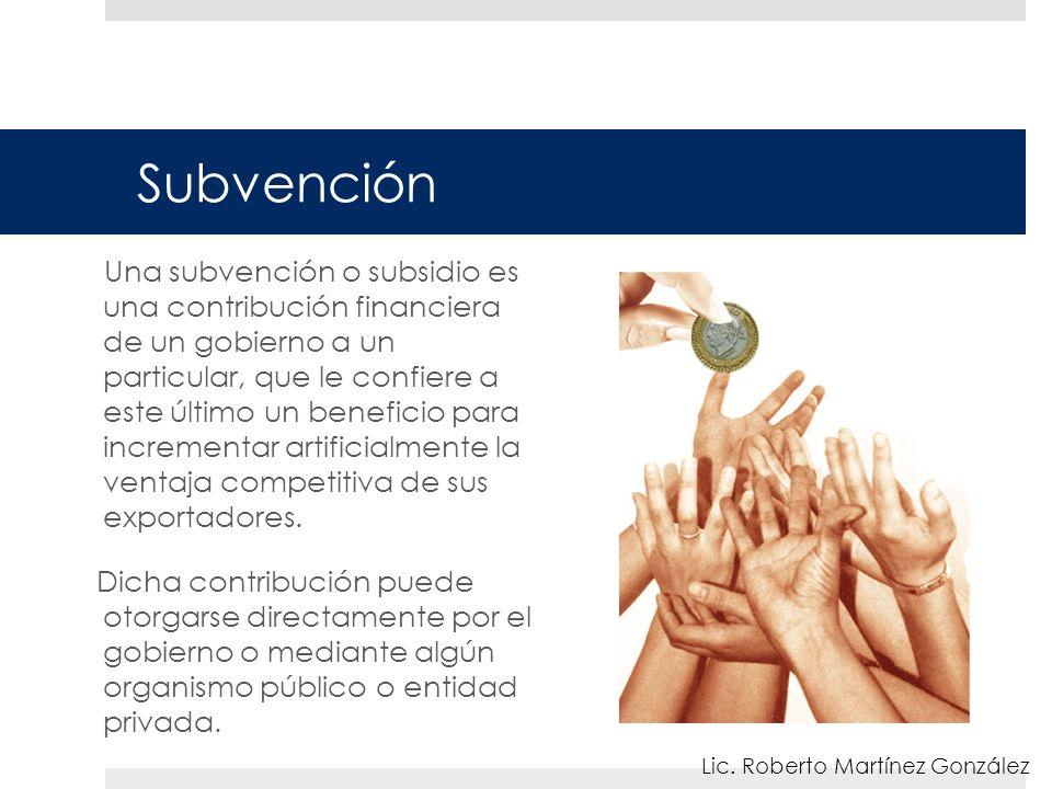 Subvención