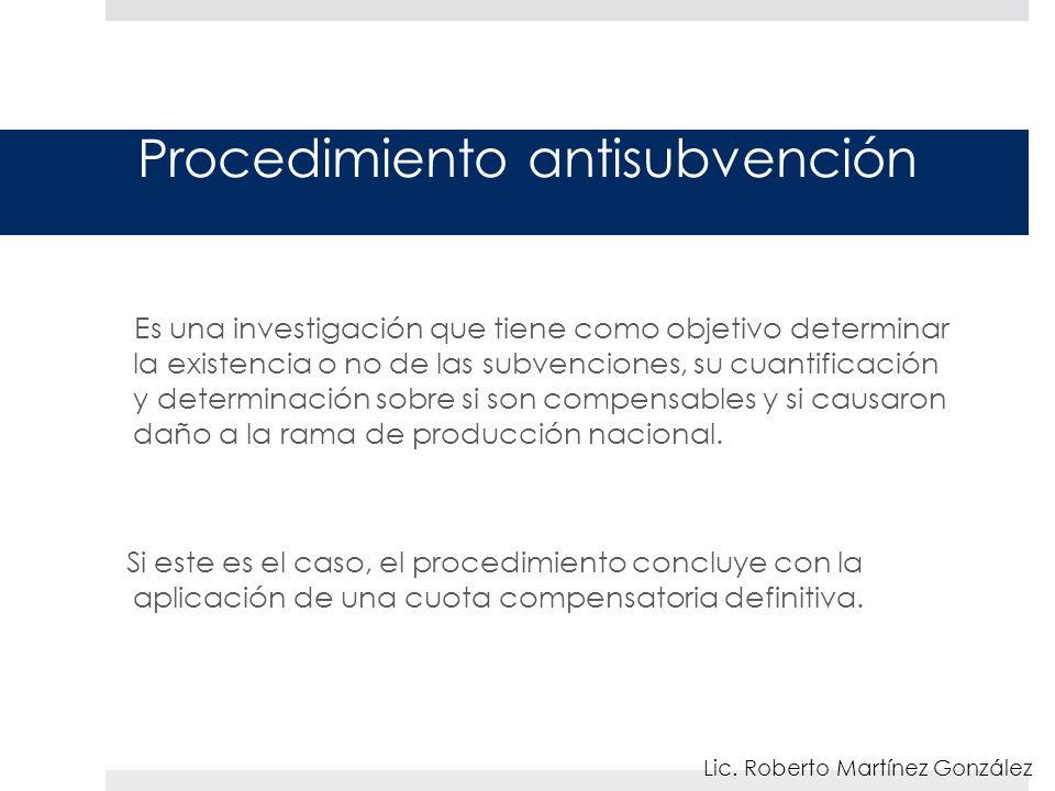 Procedimiento antisubvención