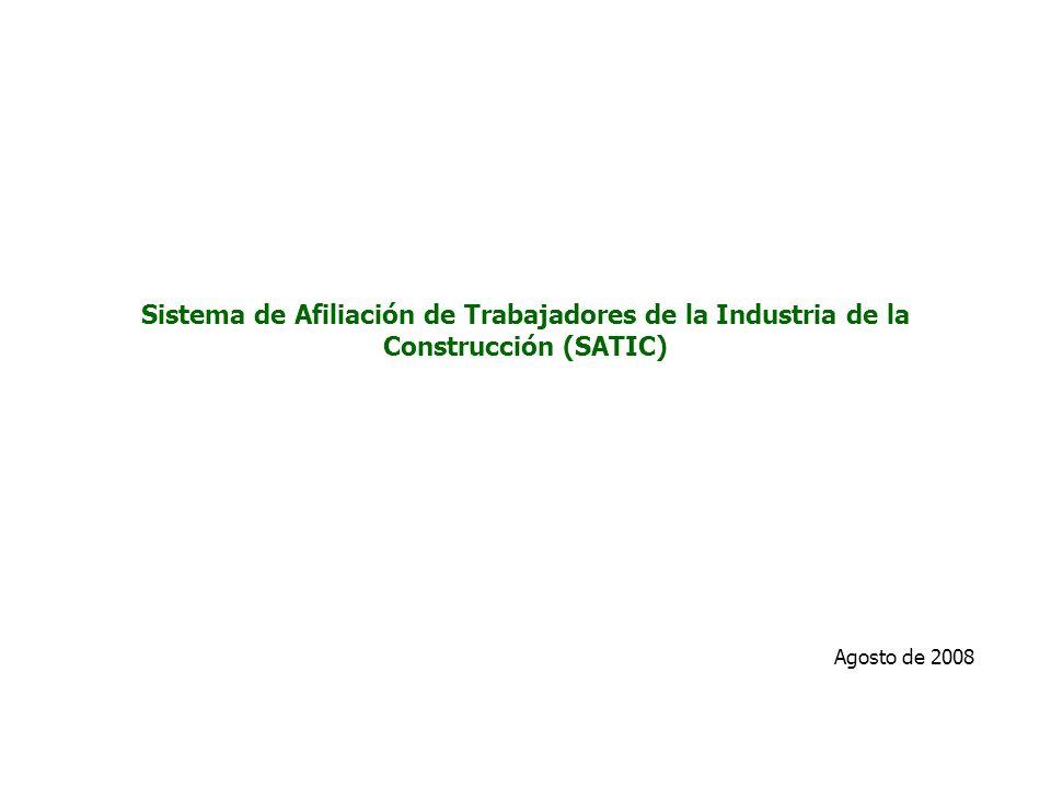 Sistema de Afiliación de Trabajadores de la Industria de la Construcción (SATIC)
