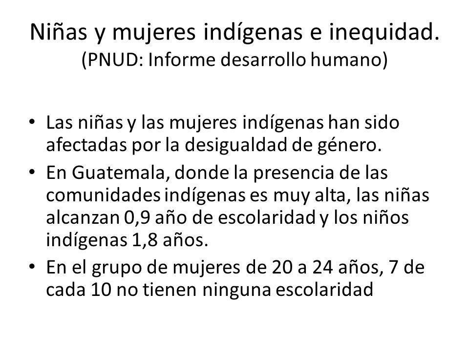 Niñas y mujeres indígenas e inequidad