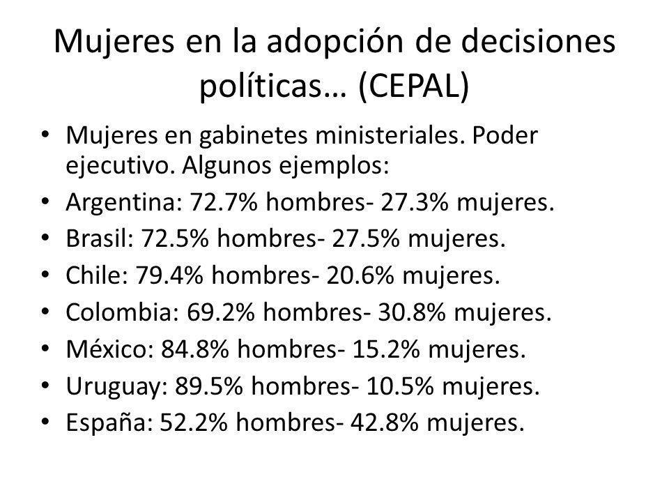 Mujeres en la adopción de decisiones políticas… (CEPAL)