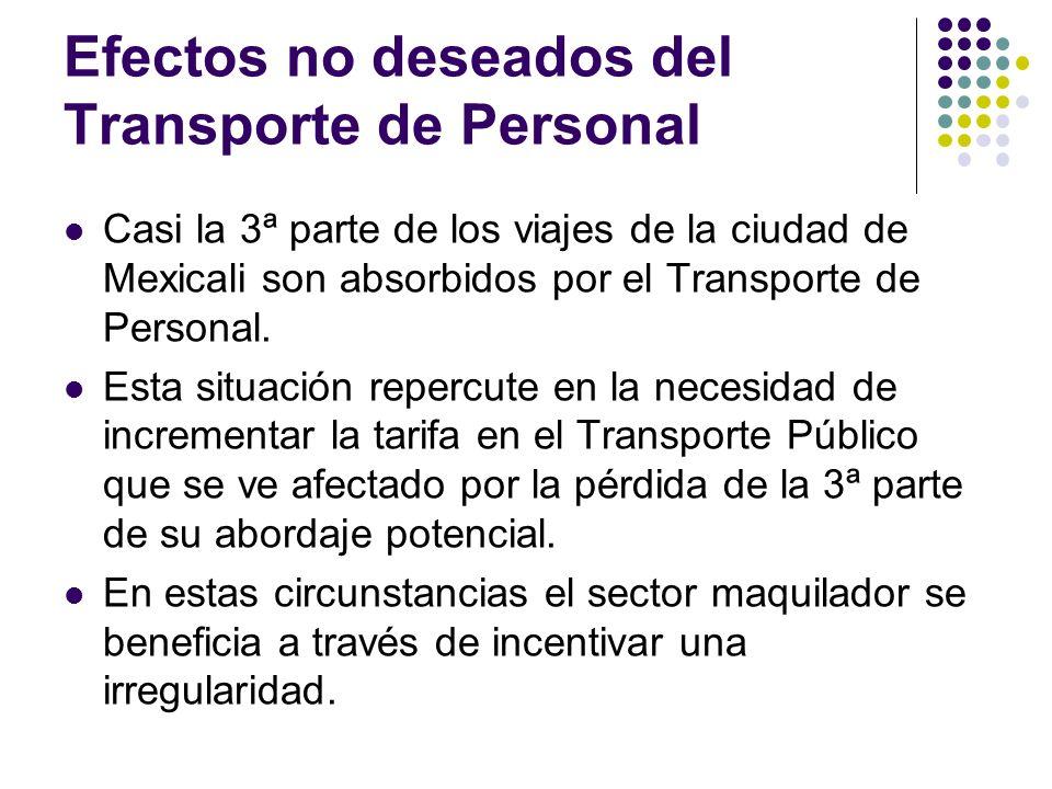 Efectos no deseados del Transporte de Personal