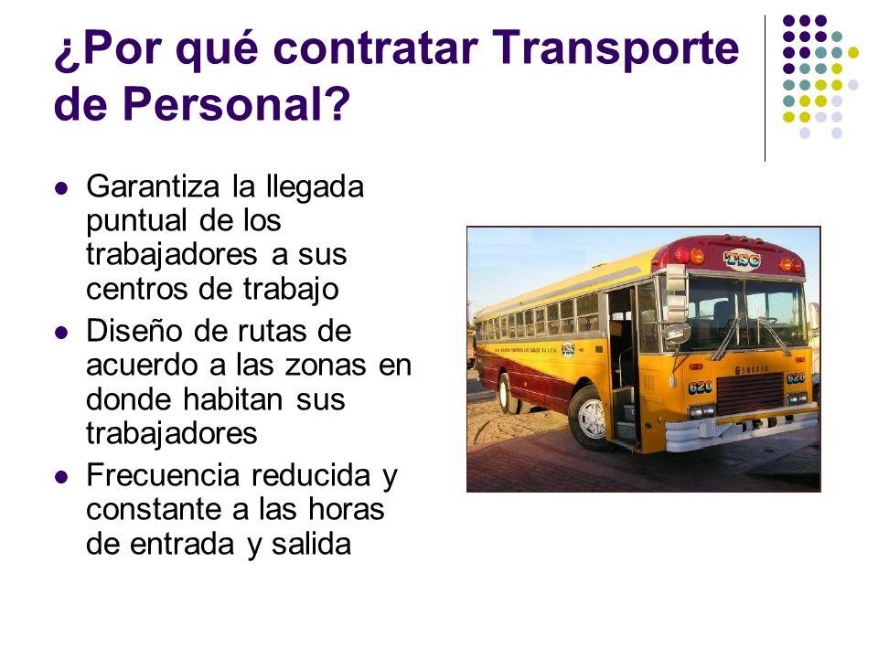 ¿Por qué contratar Transporte de Personal