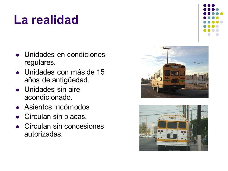 La realidad Unidades en condiciones regulares.