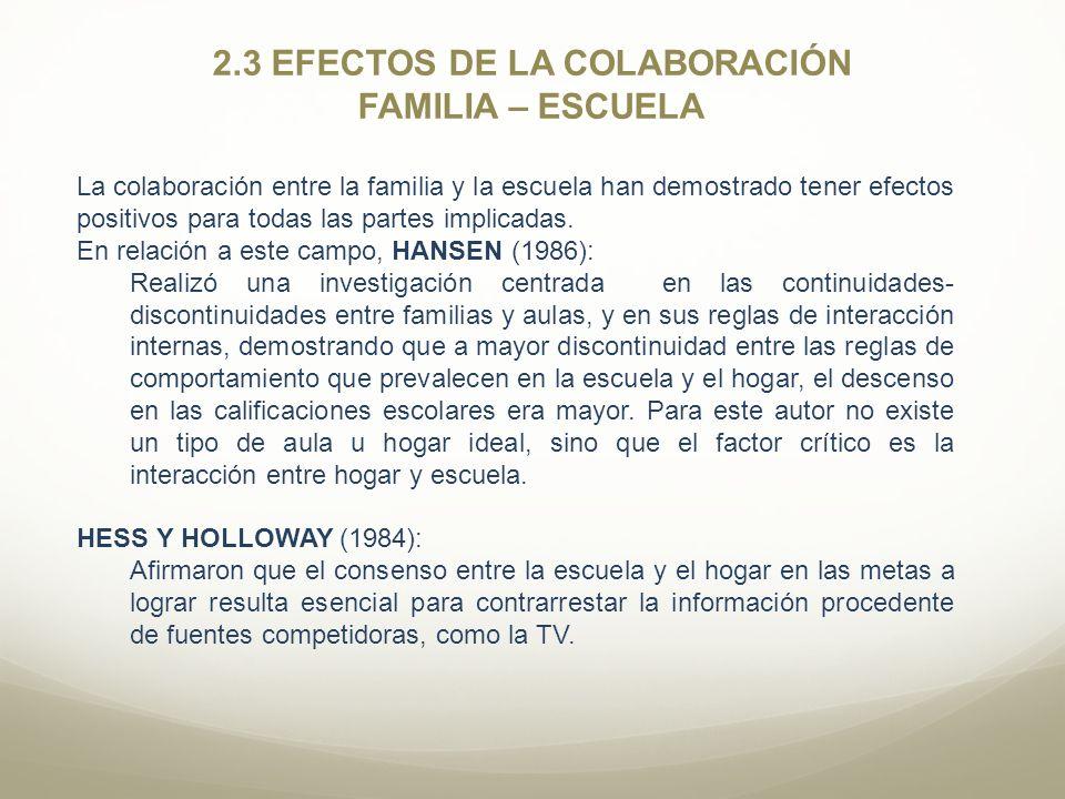 2.3 EFECTOS DE LA COLABORACIÓN