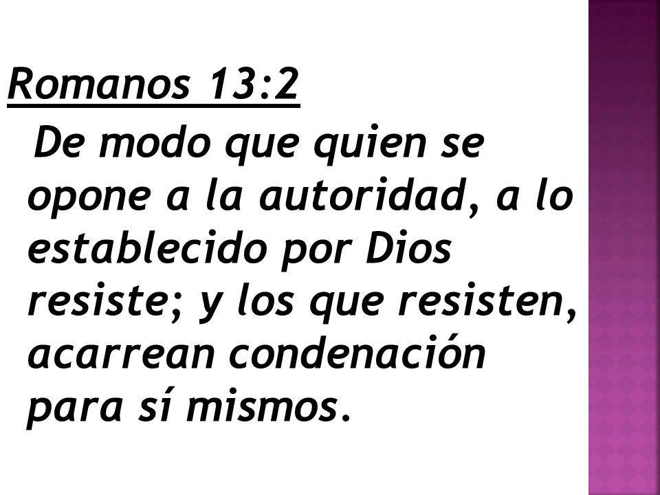 Romanos 13:2