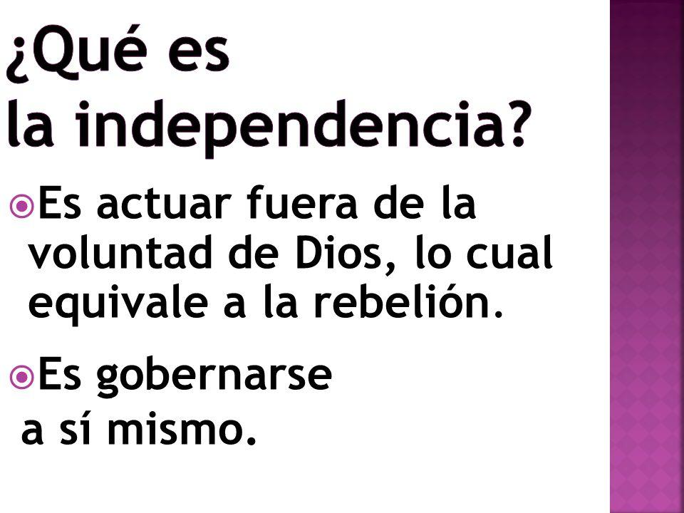 ¿Qué es la independencia