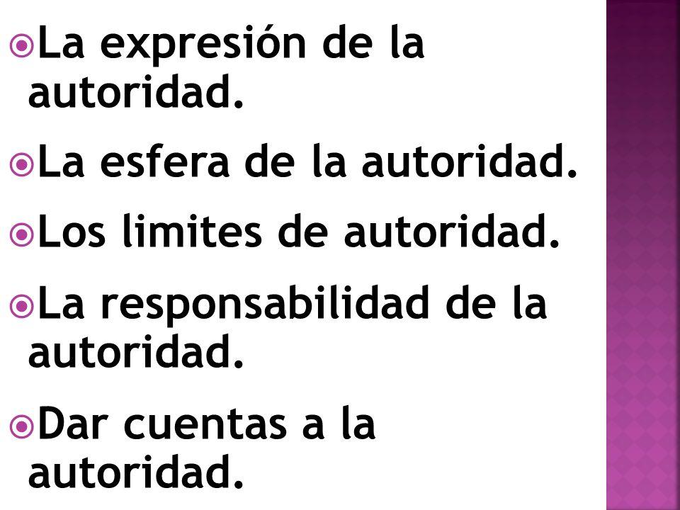 La expresión de la autoridad.