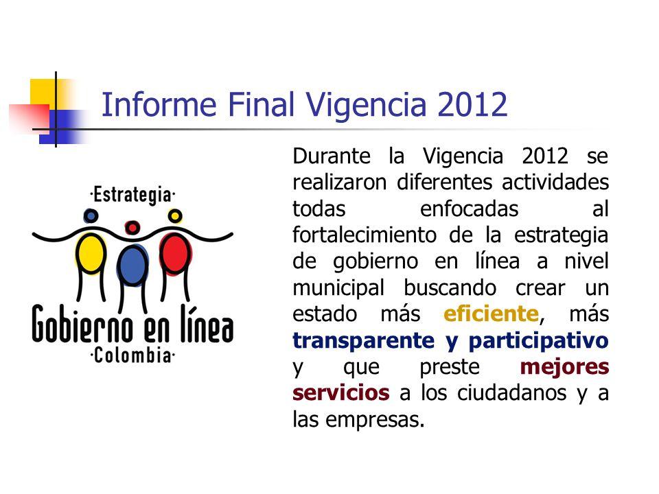 Informe Final Vigencia 2012