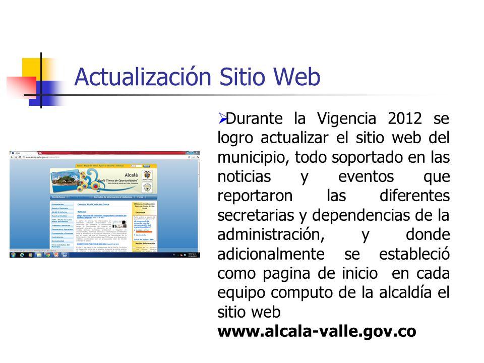 Actualización Sitio Web