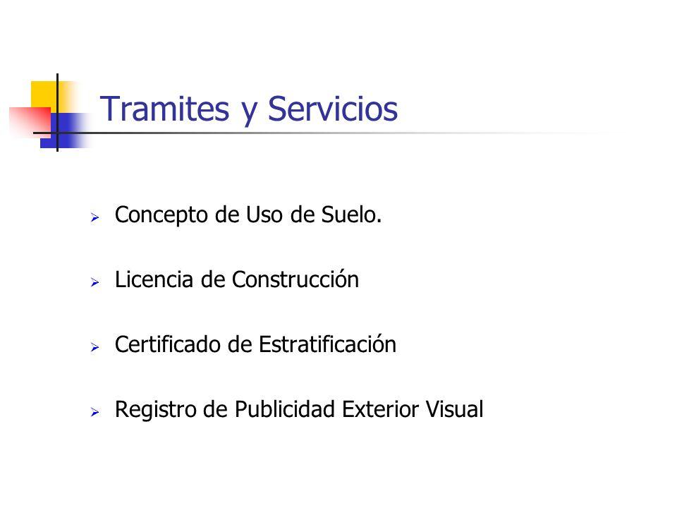 Tramites y Servicios Concepto de Uso de Suelo.