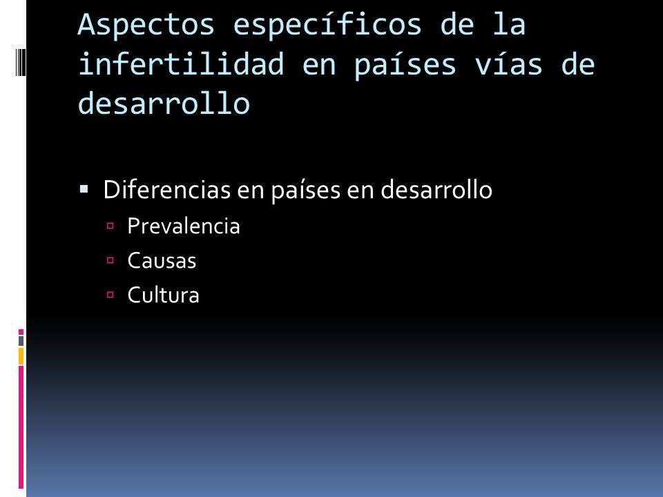 Aspectos específicos de la infertilidad en países vías de desarrollo