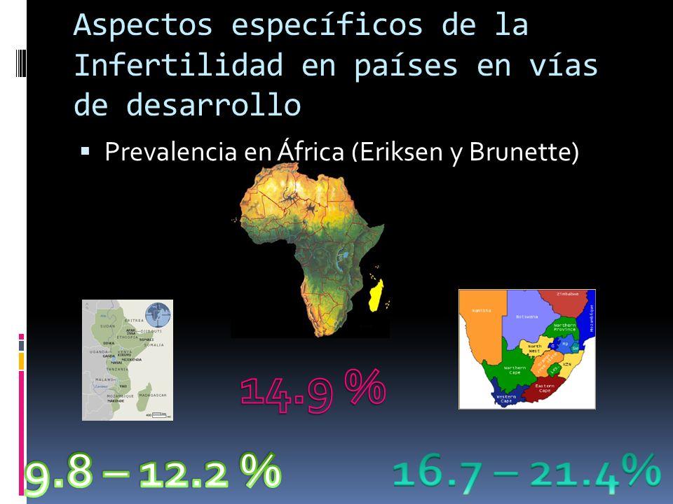 Aspectos específicos de la Infertilidad en países en vías de desarrollo