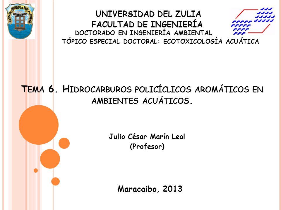 Tema 6. Hidrocarburos policíclicos aromáticos en ambientes acuáticos.