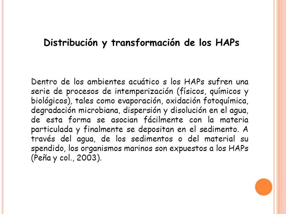Distribución y transformación de los HAPs