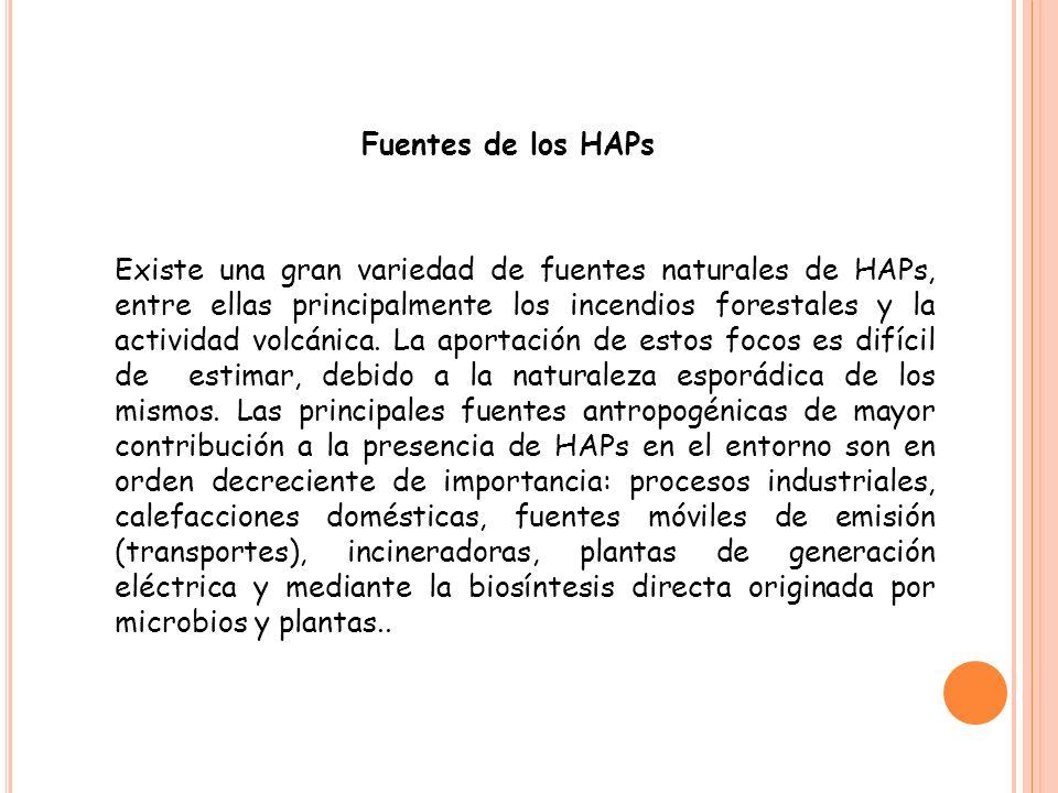 Fuentes de los HAPs
