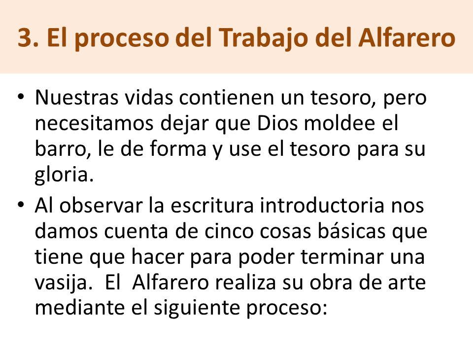 3. El proceso del Trabajo del Alfarero