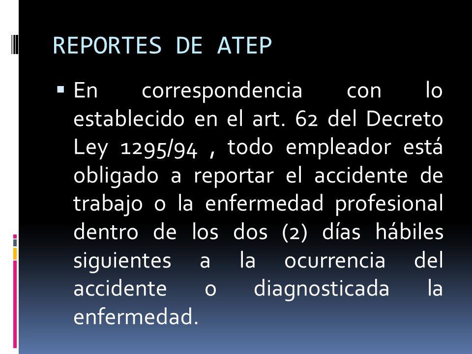REPORTES DE ATEP