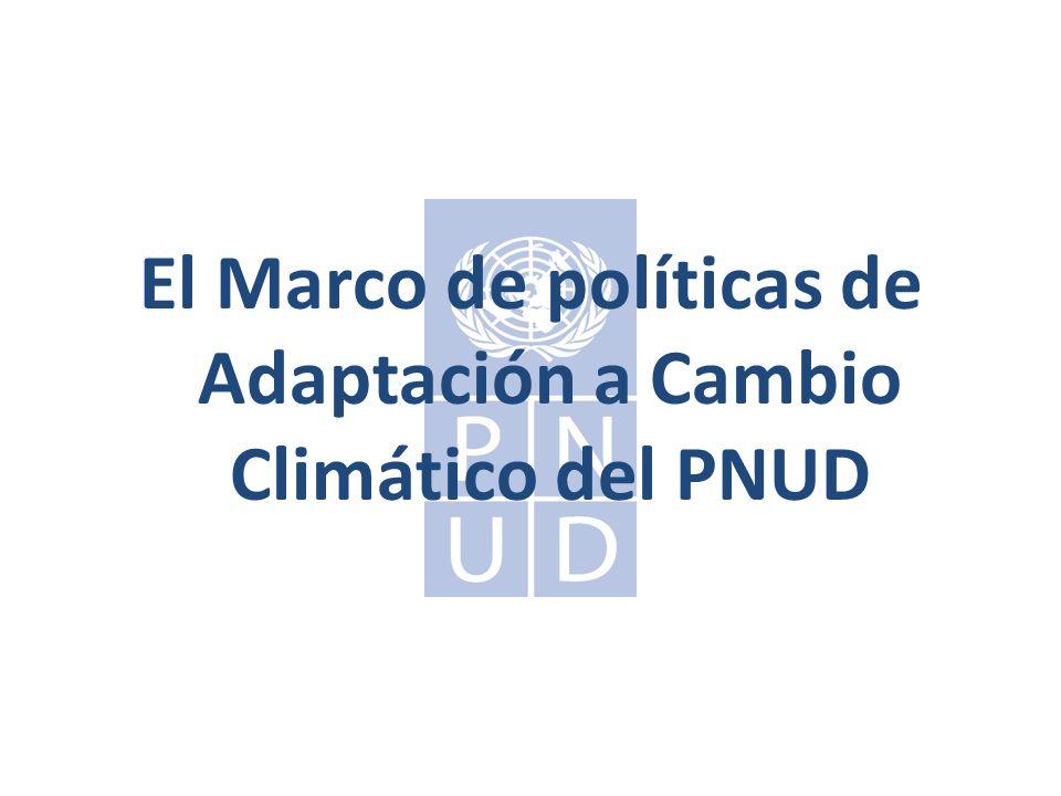 El Marco de políticas de Adaptación a Cambio Climático del PNUD