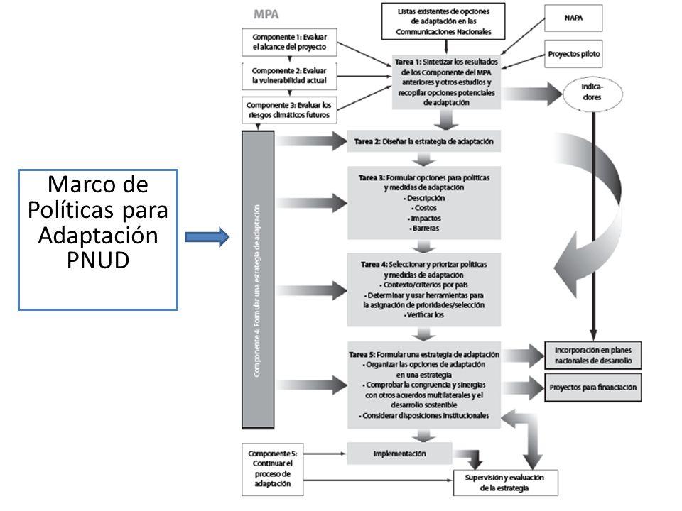 Marco de Políticas para Adaptación PNUD