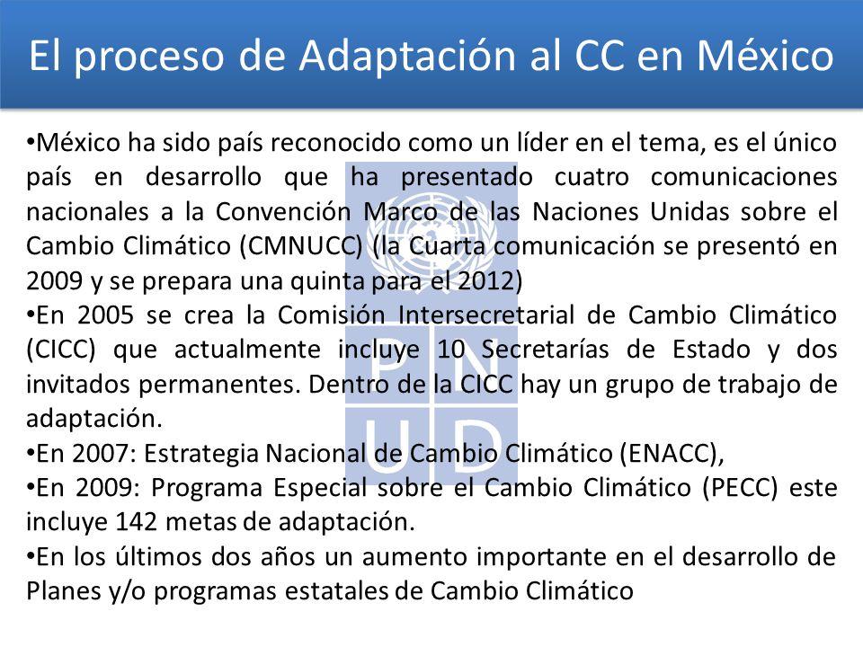 El proceso de Adaptación al CC en México