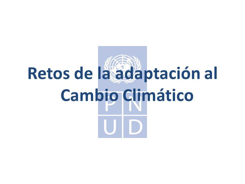 Retos de la adaptación al Cambio Climático